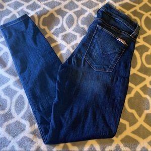 Hudson skinny jeans distressed sz 26